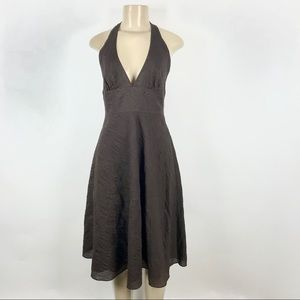 J. Crew Halter seersucker Midi Dress